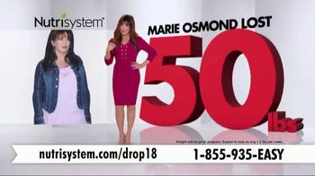 Nutrisystem Drop 18 TV Spot, 'Drop the Unhealthy Pounds' Feat. Marie Osmond - Thumbnail 3