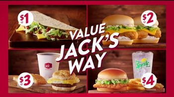 Jack in the Box Value Jack's Way TV Spot, 'Four Ways to Save'