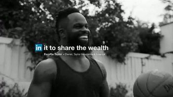LinkedIn TV Spot, 'Eszylfie Taylor: In It to Share the Wealth' - Thumbnail 8