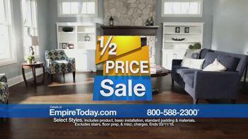 Empire Today Half Price Sale TV Spot, 'Huge Savings on Beautiful Flooring'