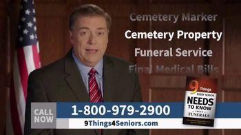Funeral Consumer Guardian Society TV Spot, 'Nine Things for Seniors'