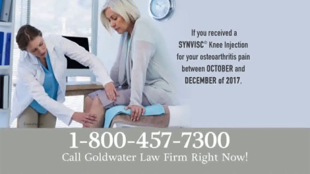 Goldwater Law Firm TV Commercial, 'SYNVISC Knee Injections'