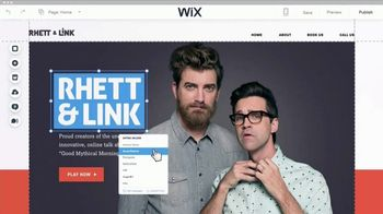 Wix Super Bowl 2018 TV Spot, 'Coolest Collaboration' Feat. Rhett and Link - Thumbnail 5
