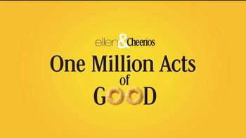 Cheerios TV Spot, 'Ellen's One Million Acts of Good: We Did It' - Thumbnail 1