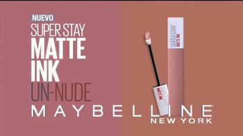 Maybelline New York SuperStay Matte Ink Un-Nude TV Spot, 'Mate' [Spanish] - Thumbnail 9