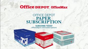 Office Depot OfficeMax Paper Subscription TV Spot, 'Copy Paper' - Thumbnail 9