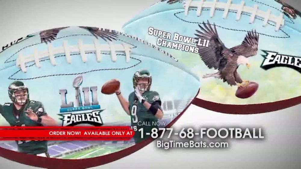 Big Time Bats Super Bowl Lll Champions Football TV Commercial, 'Philly Eagles'