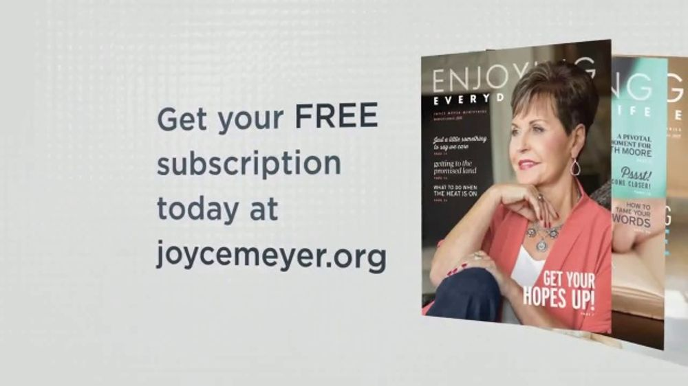 Joyce Meyer Ministries Enjoying Everyday Life Magazine TV Commercial, 'Good News'