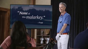 GolfBook TV Spot, 'Fred Talks Malarkey for 30 Seconds'