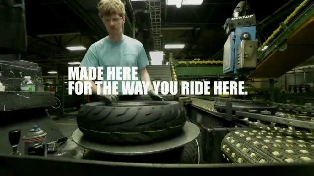 Dunlop Motorcycle Tires TV Commercial, 'Made in the USA' - Video