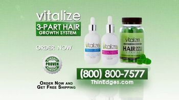 Vitalize Natural Hair Growth Treatment TV Spot, 'Replenish' Ft. AJ Johnson - Thumbnail 8