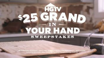 HGTV $25 Grand in Your Hand Sweepstakes TV Spot, 'How Would You Spend It?' - Thumbnail 3