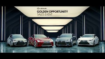 Lexus Golden Opportunity Sales Event TV Spot, 'Uncompromising Performance' [T1] - 29 commercial airings
