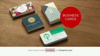 Vistaprint Semi-Annual Sale TV Spot, 'Cards, T-Shirts and Signs' - Thumbnail 2