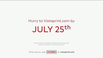 Vistaprint Semi-Annual Sale TV Spot, 'Cards, T-Shirts and Signs' - Thumbnail 7