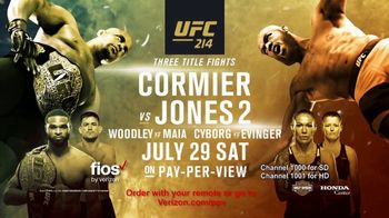 Fios by Verizon TV Spot, 'UFC 214: Cormier vs. Jones 2'