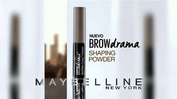 Maybelline Brow Drama Shaping Powder TV Spot, 'Cejas intensas' [Spanish] - Thumbnail 3