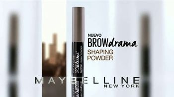 Maybelline Brow Drama Shaping Powder TV Spot, 'Cejas intensas' [Spanish] - Thumbnail 8