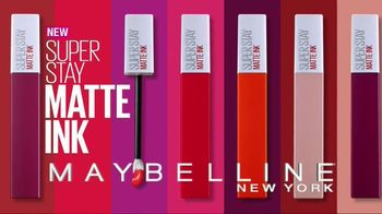 Maybelline New York SuperStay Matte Ink Liquid Lipstick TV Spot, 'Intense' - Thumbnail 3
