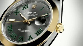 Rolex Oyster Perpetual Datejust 41 TV Spot, 'Rolex and Wimbledon'