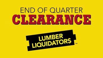Lumber Liquidators End of Quarter Clearance Sale TV Spot, 'Spring Floors'