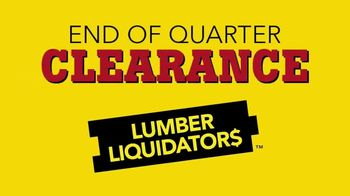 Lumber Liquidators End of Quarter Clearance Sale TV Spot, 'Spring Floors'