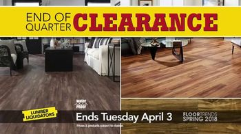 Lumber Liquidators End of Quarter Clearance Sale TV Spot, 'Spring Floors' - Thumbnail 1