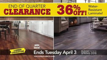 Lumber Liquidators End of Quarter Clearance Sale TV Spot, 'Spring Floors' - Thumbnail 3