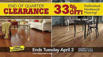 Lumber Liquidators End of Quarter Clearance Sale TV Spot, 'Spring Floors' - Thumbnail 4
