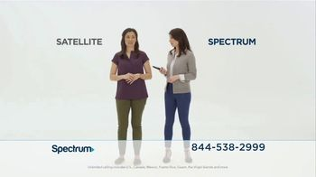 Spectrum TV Spot, 'Spectrum vs. Satellite'