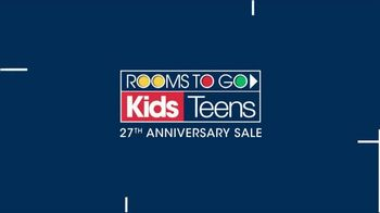 Rooms to Go Kids 27th Anniversary Sale TV Spot, 'Twin Loft Bed' - Thumbnail 1