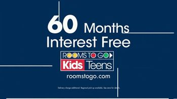 Rooms to Go Kids 27th Anniversary Sale TV Spot, 'Twin Loft Bed' - Thumbnail 5