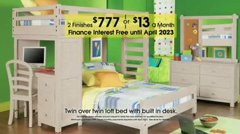 Rooms to Go Kids 27th Anniversary Sale TV Spot, 'Twin Loft Bed' - Thumbnail 4