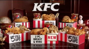 KFC $5 Fill Ups TV Spot, \'Two Pieces\'