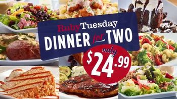 Ruby Tuesday Dinner for Two TV Spot, 'Bringing Everyone Twogether'