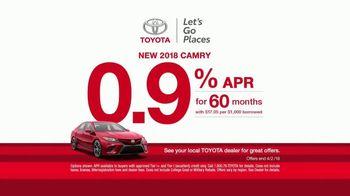 Toyota Ready Set Go! TV Spot, 'Flowers: 2018 Camry' [T2] - Thumbnail 6