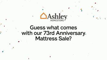 Ashley HomeStore 73rd Anniversary Mattress Sale TV Spot, 'Bonus Furniture' - Thumbnail 1