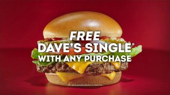Wendy's Dave's Single TV Spot, 'While You're Watching Basketball'