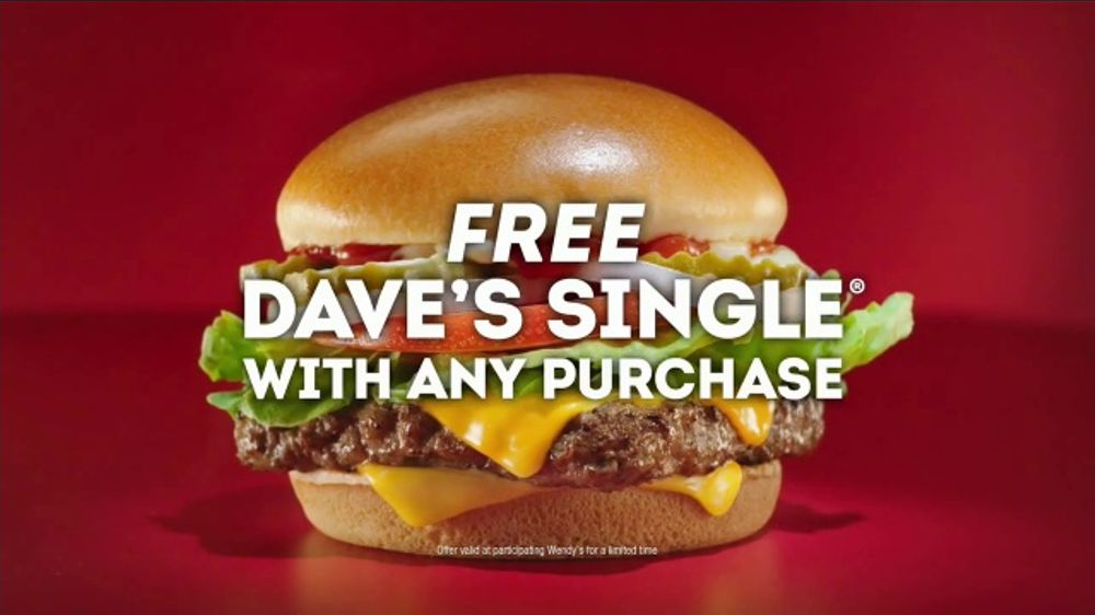 Wendy's Dave's Single TV Commercial, 'While You're Watching Basketball'