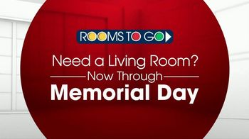 Rooms to Go TV Spot, 'Memorial Day: Living Room' - Thumbnail 1