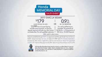 Honda Memorial Day Sales Event TV Spot, 'Red, White and Blue' [T2] - Thumbnail 8