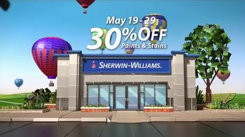Sherwin-Williams National Painting Week Sale TV Spot, 'Paints and Stains' - Thumbnail 4