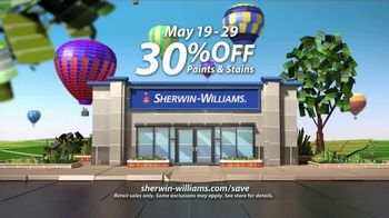 Sherwin-Williams National Painting Week Sale TV Spot, 'Paints and Stains'