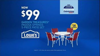 Lowe's Outdoor Entertaining Event TV Spot, 'The Moment: Outdoor Look' - Thumbnail 9