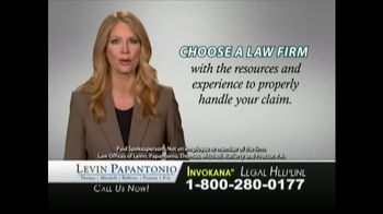 Levin Law TV Spot, 'Invokana Risks' - Thumbnail 6