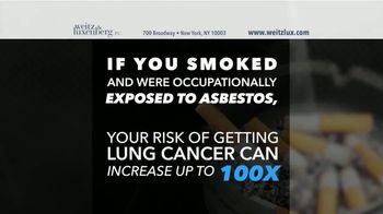 Weitz and Luxenberg TV Spot, 'Smokers and Asbestos'