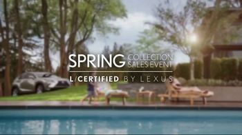 Lexus Spring Collection Sales Event TV Spot, 'L/Certified' [T2] - Thumbnail 1