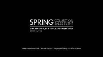 Lexus Spring Collection Sales Event TV Spot, 'L/Certified' [T2] - Thumbnail 9