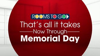 Rooms to Go TV Spot, 'Memorial Day: All It Takes' - Thumbnail 3