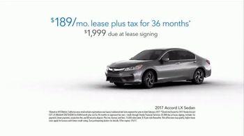 2017 Honda Accord LX TV Spot, 'Everyone Wins' [T2] - Thumbnail 7